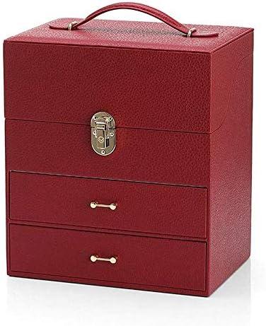 POST Contenitore Di Vigilanza - In Pelle Di Monili Guardare Box, Palazzo Di Stile Contenitore Di Vigilanza, Formato 18.2x25.5x29.4 Cm