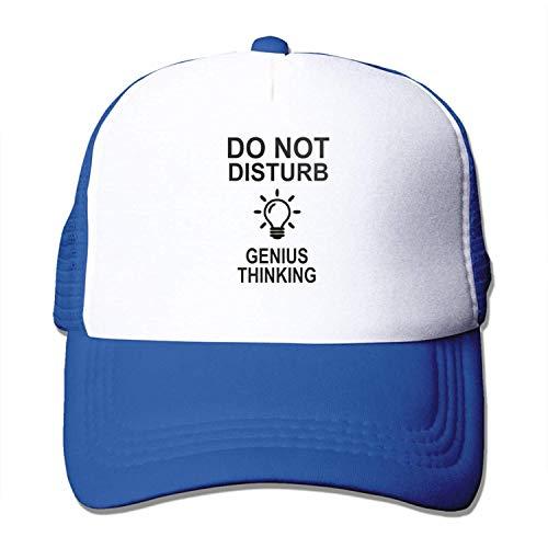 UMarsDeal Mesh Sports Baseball Caps Do Not Disturb Genius Thinking Adjustable Trucker Sun Hats for Running Outdoor