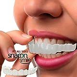 (US) Top and Bottom Temporary Tooth Repair Kit Temp Dental Fix Missing Teeth - Fake Teeth Snap   On Smile Fit Flex Teeth Veneers - Denture Makes Your Smile Brighter