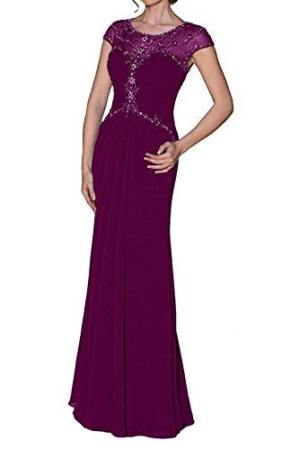Kleider Abendkleider Damen Partykleider La Elegant Langes Festlichkleider Braut Fuchsia Chiffon mia Dunkel Brautmutterkleider Formal PZZXqU