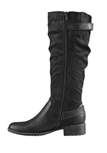 Stiefel von BC aus Microfaser Schwarz
