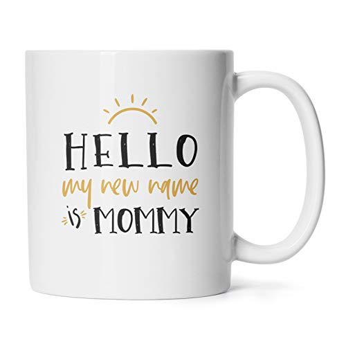 Name Mug Cup - Mother's Day Mugs Birthday Presents/Gifts For Mom To Be My New Name Is Mommy Coffee Cups 11 Oz