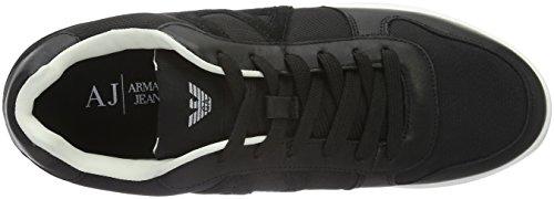 Low Mens Armani Jeans Jeans Sneaker Armani Sneakers Black WSIWgqXnw