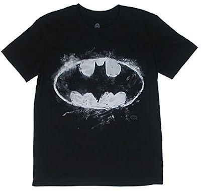 DC Comics Batman Chalk Logo Logo Adult T-Shirt