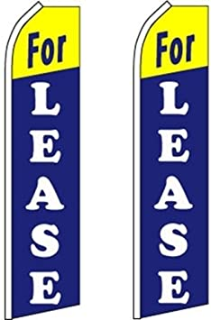 Swooper Flutter Feather Flag plus Pole /& Ground Spike TOWNHOMES FOR LEASE Blue White Yellow