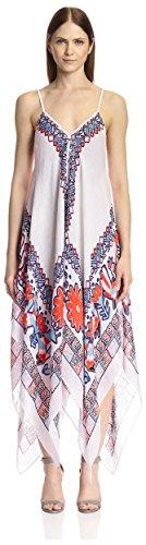 Theodora & Callum Women's Caravan Scarf Dress, White Multi, One Size