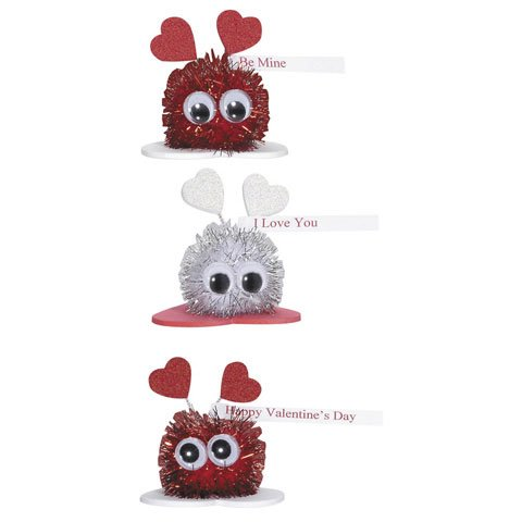 Valentine's Day Sparkle Pom Pom Critters Group Activity Craft Kit