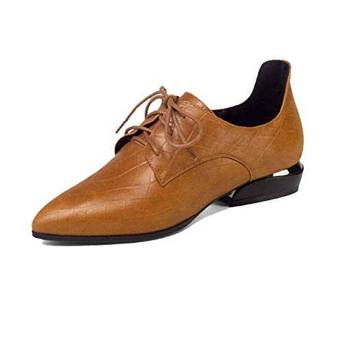 pour Basses Confortable Chaussures Caramel Pointues Casual Portable Femmes ZPEDY Chaussures Dentelle F5aqwgn