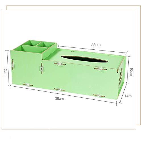 GaoJinZhuan Europäische Heißprägen Technologie Tissue Box Holz Mode Couchtisch Desktop Desktop Desktop Fernbedienung Multi-Format Aufbewahrungsbox (Farbe   SCHWARZ) B07MH1YXXZ | Moderne und elegante Mode  dd666f