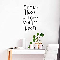 WSYYW No Hood Like Motherhood Cartoon Wall Stickers PVC Mural Art DIY Poster Children's Room Wall Stickers Wallpaper Wall Stickers Gold L 43cm X 72cm