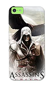 Iphone 5c SZdBFv-1220-IbRoM Assassin Creed Warriors Eagles Connor Kenway Games Silicone Gel Case Cover For Lovers