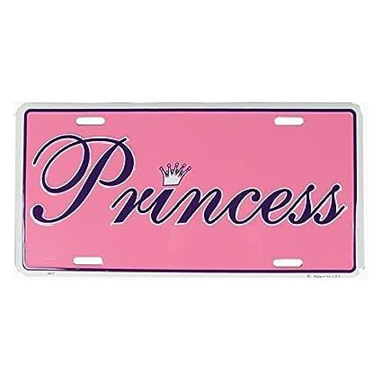 Pink Princess License Plate