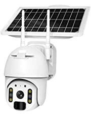 4G/WIFI Solar Batterij Draadloze Beveiligingscamera, HD 1080P Outdoor Waterdichte 2MP CCTV Home Video Security Surveillance IP Camera, Spotlight, Cloud/SD Slot Opslag Compatibel met Alexa (WIFI)