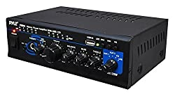Pyle 2x120 Watt Home Audio Power Amplifier - Portable 2 Channel Surround Sound Stereo Receiver W Usb In - For Amplified Subwoofer Speaker, Cd Dvd, Mp3, Iphone, Phone, Theater, Pa System - Ptau45