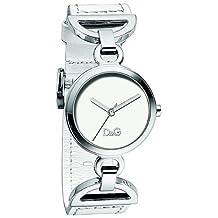 Dolce & Gabbana Women's CHEESE CAKE DW0725 White Calf Skin Quartz Watch with Silver Dial