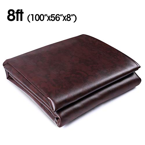 Boshen 8FT Heavy Duty Fitted Leatherette Billiard Pool Table Cover Furniture Cover ()