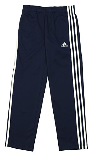 adidas Youth Climawarm Tech Fleece Athletic Pants,Navy/White Large (14/16)