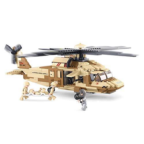 Sluban Utility Helicopter  #34;Army   Black Hawk #34; Building Kit  439 Pieces