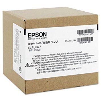 EPSON AMERICA ELPLP67 Replacement Lamp for EX, MegaPlex, PowerLite 1221/1261W/S11/X12, VS - Elplp67 Epson Replacement