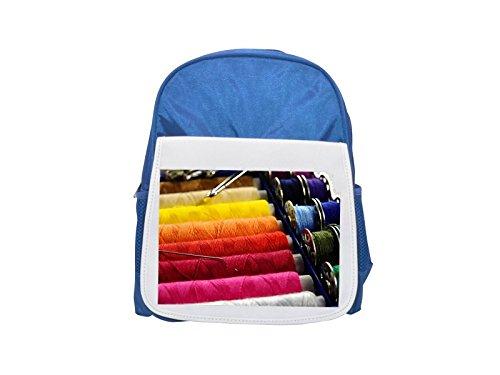 Yarn, Thread, Sew, Thread Spool printed kid's blue backpack, Cute backpacks, cute small backpacks, cute black backpack, cool black backpack, fashion backpacks, large fashion backpacks, black fashion b by PickYourImage