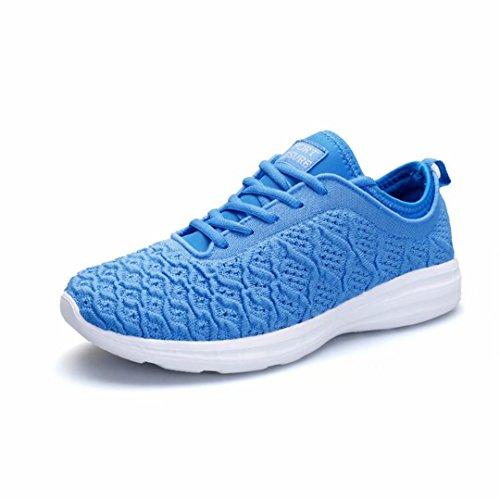 Kleine Tomate Damen Sneaker Atmungsaktives Mesh Turnschuhe Rutschfeste Walkingschuhe Wanderhalbschuhe Größe 36-44 Blau