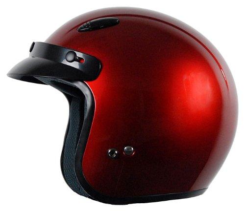 Vega X-280 Open Face Helmet (Candy Red, XX-Large) by Vega