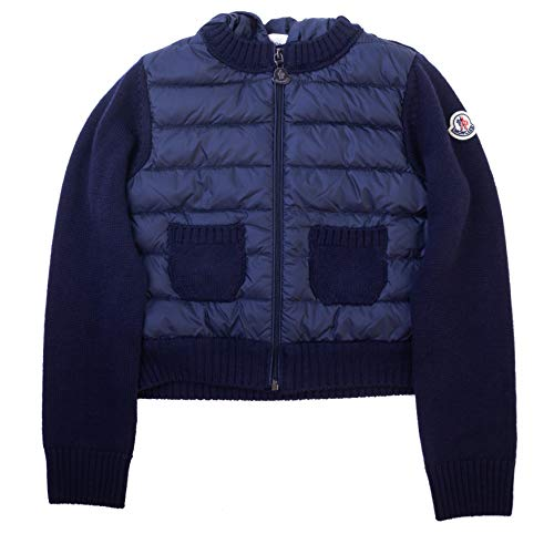 Moncler Boys Tricot Cardigan Padded Down Jacket Navy Blue ()