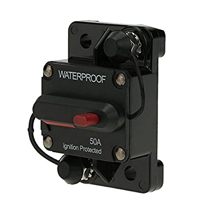 Docooler® Waterproof 50Amp - 150Amp Circuit Breaker Overload Protection with Manual Reset Switch for Car Bus Truck Caravan Boat