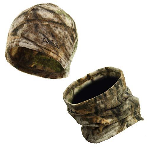 Cabelas Fleece Outfitters - Zeek Outfitter Camouflage Fleece Beanie & Neck Gaiter Set (Cabela's Zonz Woodlands)