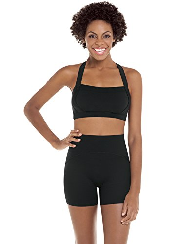 Spanx Active Women's Shaping Compression Girl Short Black Shorts XL X 3