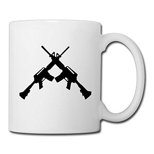 Victorias Secret Pink Label (Christina Cross Guns AR15 M16 Logo Ceramic Coffee Mug Tea Cup White)