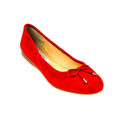 EYE Damen Ballerinas Leder Rot