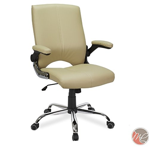 Versa Stylish Comfortable Office Chair Cream Desk Chair Perfect for Office, Conference Room, Reception, Waiting -