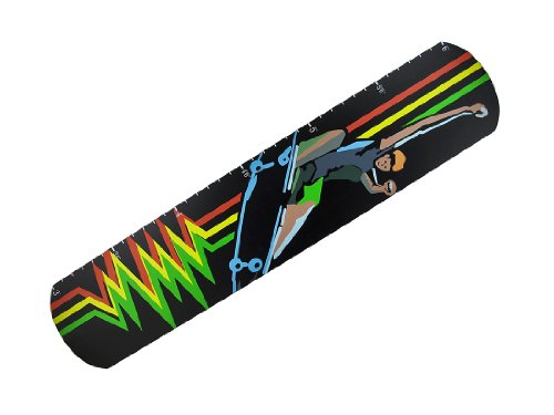 Things2Die4 Children`s Skateboard Growth Chart Wall Hanging
