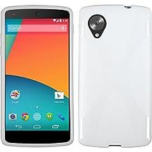 Silicone Case for Google Nexus 5 - X-Style white - Cover PhoneNatic + protective foils