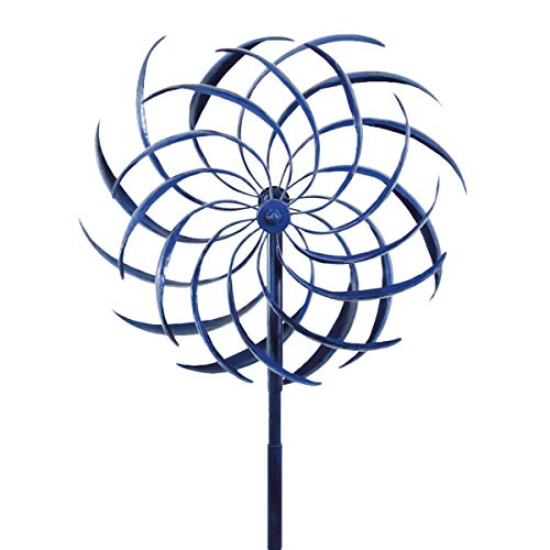 (TG,LLC Dual Kinetic Metal Garden Art Pinwheel Wind Spinner Unique Outdoor Yard Sculpture)
