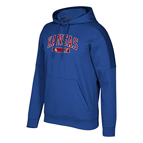 (adidas NCAA Kansas Jayhawks Mens Arched Heat Team Issue Fleece Pullover Hoodarched Heat Team Issue Fleece Pullover Hood, Collegiate Royal, Large)