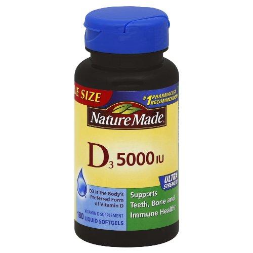 Nature Made Vitamin D3 5000 IU,180 Softgels (Nature Made Vitamin D3 5000 Iu compare prices)