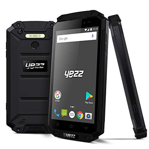 YEZZ Epic T New - Rugged Unlocked Smartphone - 9000 MAH Battery - IP68 Waterproof, Fingerprint & Military Standard - 4G LTE - 32GB + 3GB RAM