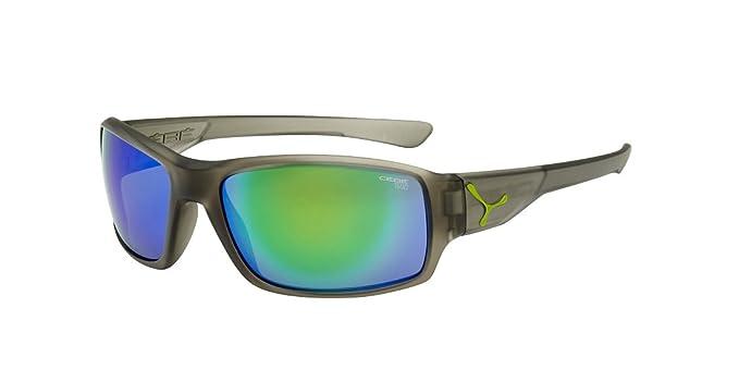 Cébé Haka Lunettes de soleil Matte Translucide Grey 1500 Grey FM Green Taille M vf2bW2P