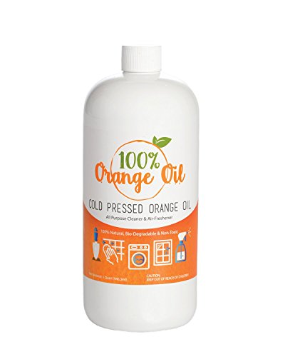 Premium Cold Pressed Orange Oil- 32 oz (D-Limonene), All Natural 100% Cold Pressed Orange Oil