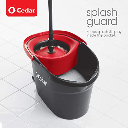 O-Cedar EasyWring Microfiber Spin Mop, Bucket Floor Cleaning System