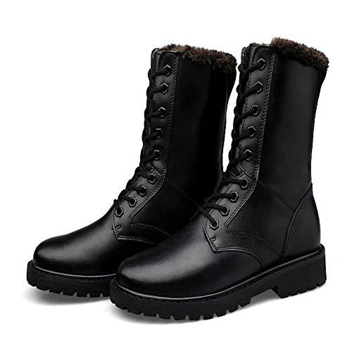 coloré Et Homme Chaussures Fuxitoggo Noir Bottes Taille Hautes Hiver Automne 37 Noir SqOHR