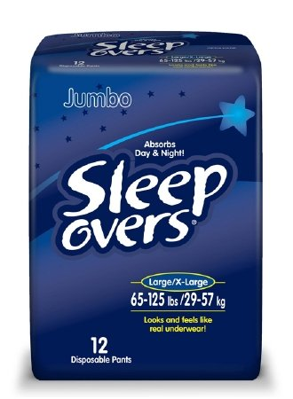 Sleep Overs Youth Pants, Large to XL (65 to 125 lb) - 48 ct.