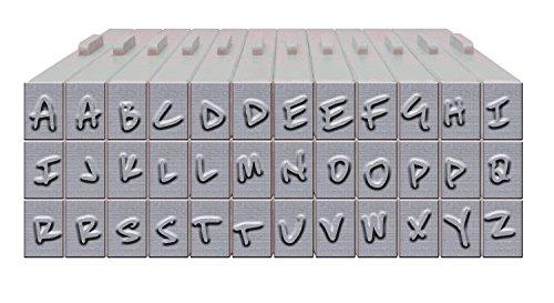 Brutus Monroe Pegz (36-Piece) Free Hand Font Set Stamp by Brutus Monroe