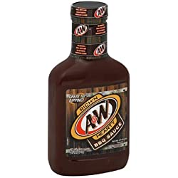A&W Rich'N Hearty BBQ Sauce (2 Pack of 17.5 Oz Bottles)