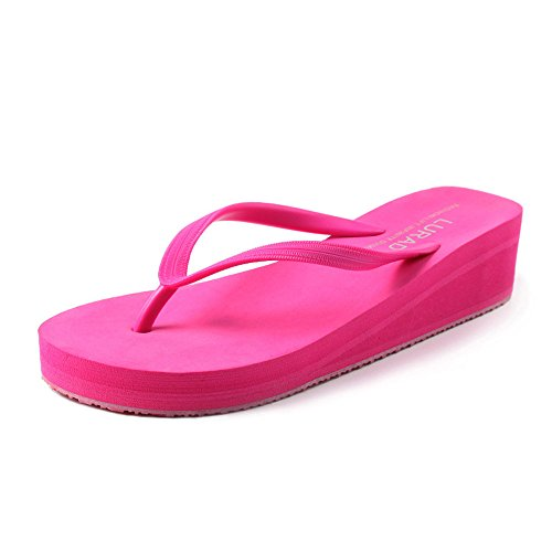 EU Haut love Red Summer Color Élégant Red Plate Forme 4 Compensées Talon Pantoufles Sandales 40 Couleurs Angel Femmes beauty Tongs Beach Size nARR1