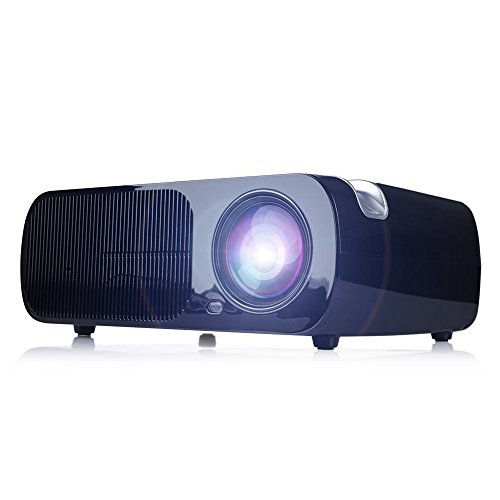 iRulu BL20 Video Projector, Home Cinema 5.0 Inch LCD TFT 1080P HD Display 800x480 Resolution (Black) (Outdoor Blow Up Movie Screen)