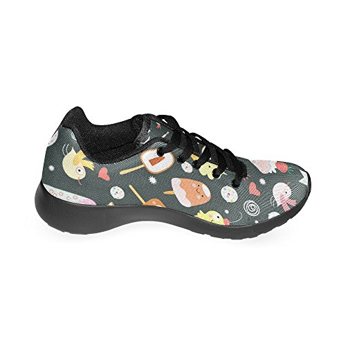 InterestPrint Womens Road Running Shoes Jogging Lightweight Sports Walking Athletic Sneakers Ice Cream Strawberry Bird JYDRAi