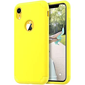 Amazon.com: ULAK iPhone XR Case Yellow, Slim Fit Hybrid